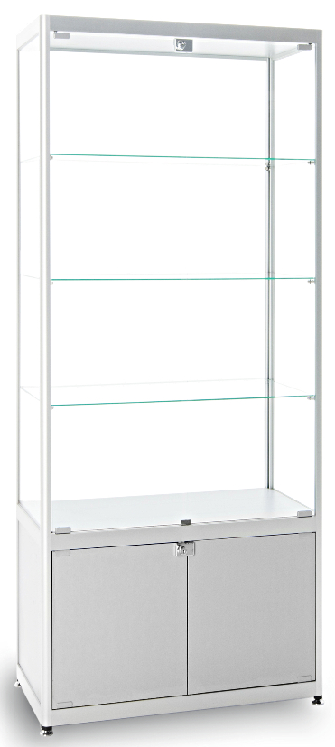 Diamond Silver Glass Display Cabinet ...