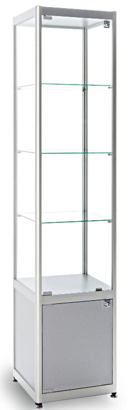 Merveilleux Diamond Silver Glass Display Cabinet ...
